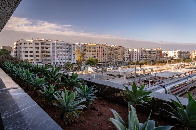 Casablanca, Marocco - Vista dalla stazione dei Casa Voyagers immagini stock libere da diritti