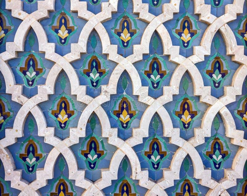 Casablanca in Marokko Moskee Hassan II decoratie royalty-vrije stock afbeeldingen