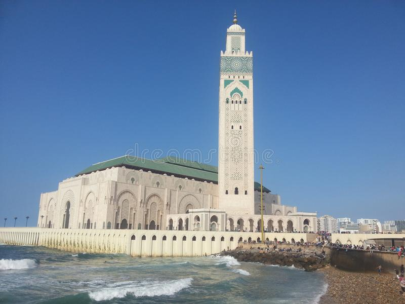 casablanca meczet Hassan ii obrazy stock