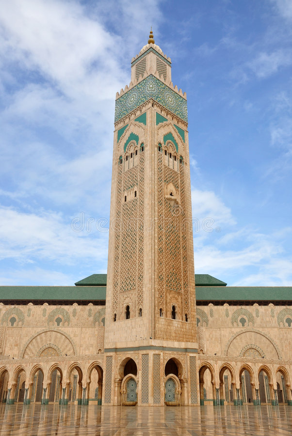 casablanca meczet Hassan ii obraz stock