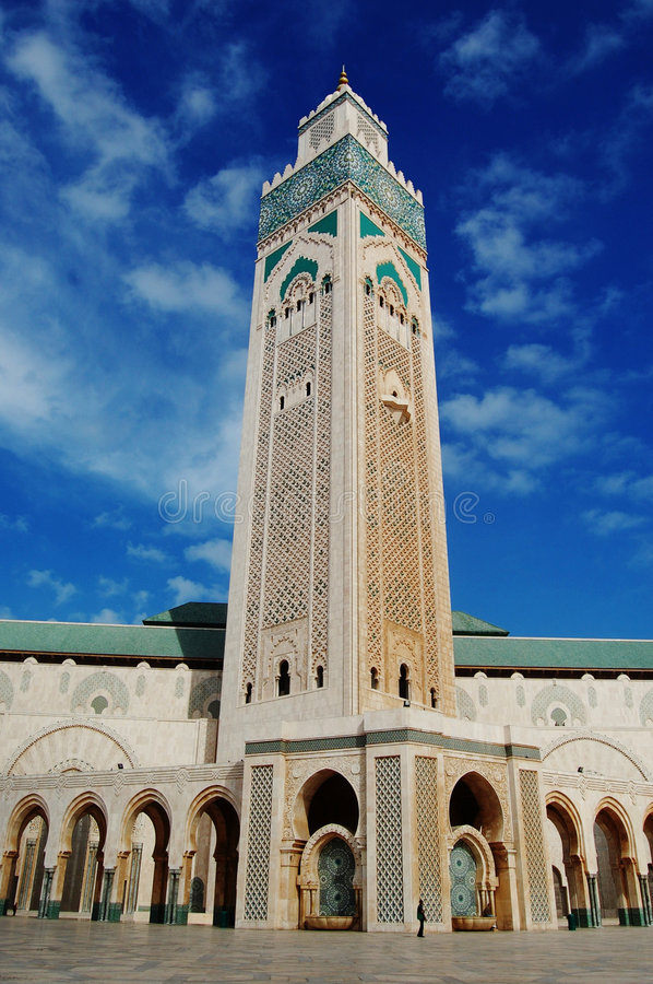 casablanca meczet Hassan ii Morocco fotografia stock