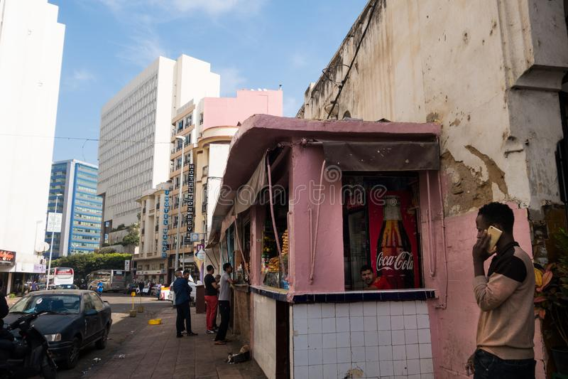 Casablanca, Morocco - October 29, 2017 : view of old and modern stock photo