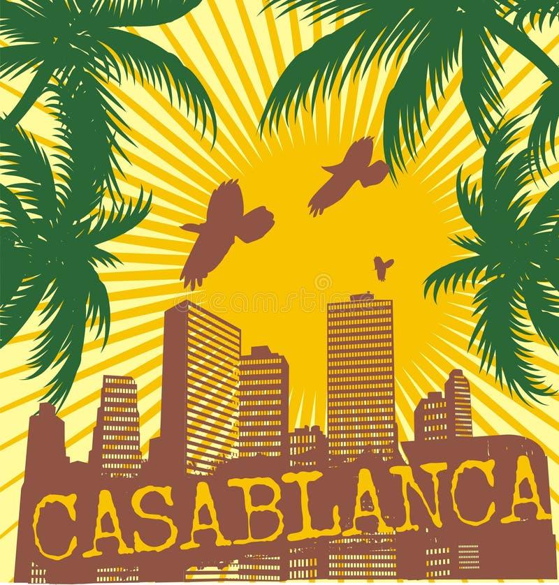 casablanca Palm Beach ilustração stock