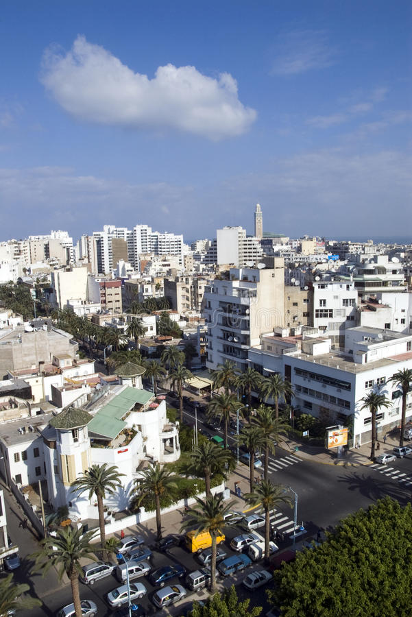 Casablanca-Stadtbild lizenzfreie stockfotos