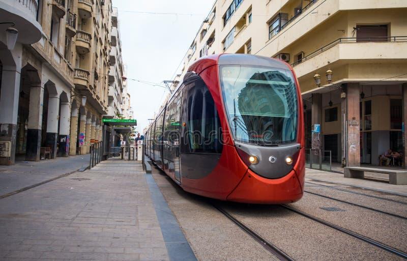 Casablanca-Straßenleben lizenzfreie stockbilder