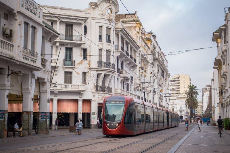 Casablanca-Straßenleben stockfotografie