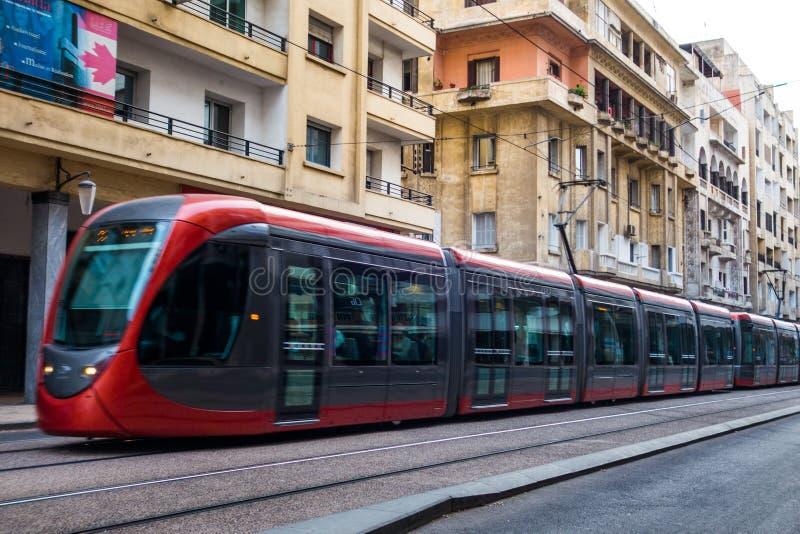 Casablanca-Straßenleben stockfoto