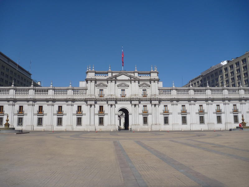 Casade la莫内达宫殿在圣地亚哥de chile 库存照片