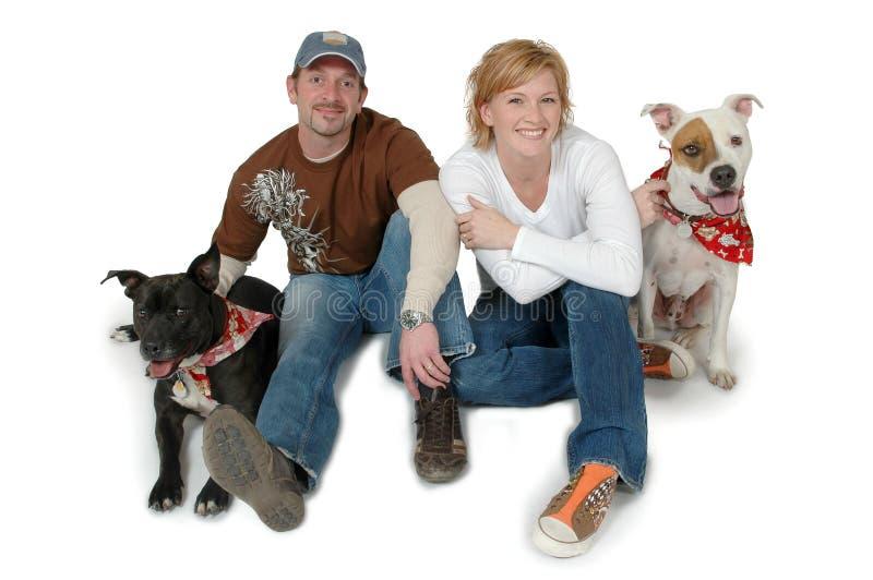 Casado com cães fotos de stock royalty free
