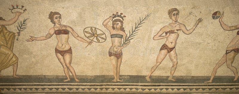 casale del czerepu mozaiki rzymska romana willa zdjęcia royalty free