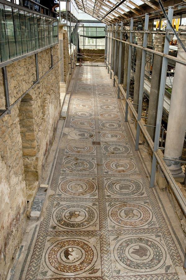 casale del czerepu mozaiki rzymska romana willa fotografia royalty free