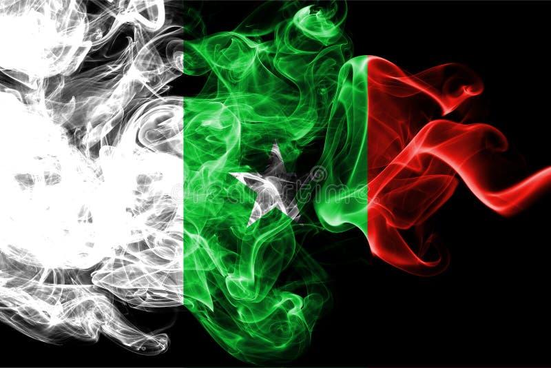 Casamance rökflagga, beroende territoriumflagga royaltyfri illustrationer