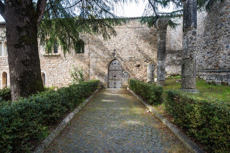 Casamari修道院在Ciociaria,弗罗西诺内,意大利 库存照片