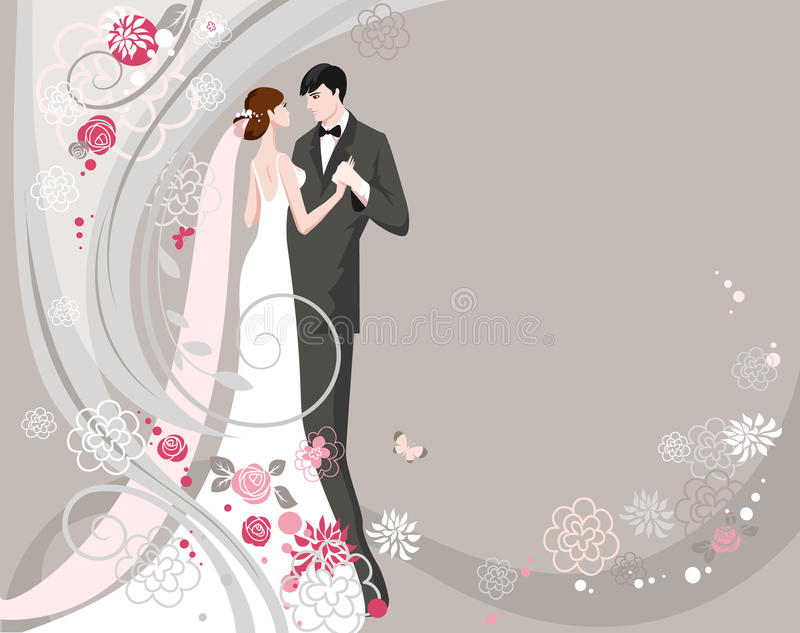 Casamento ilustração stock