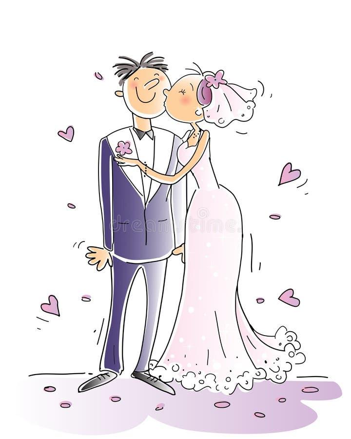 Casamento ilustração royalty free