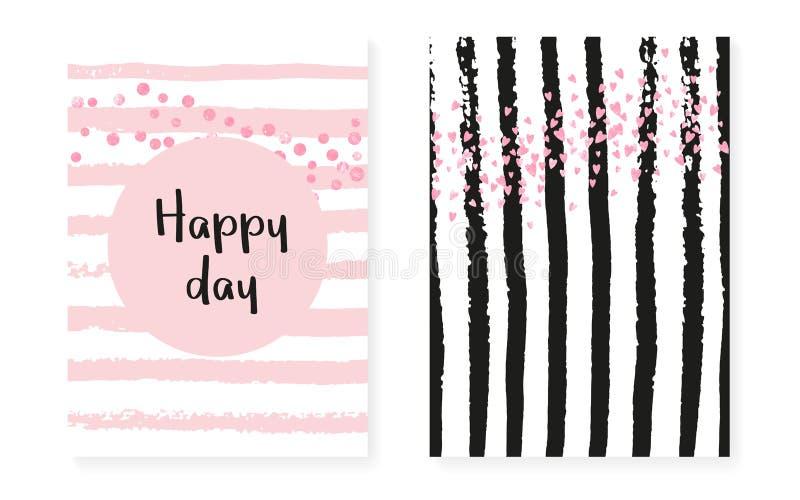 Casamento ajustado com pontos e lantejoulas Cartão nupcial do convite do chuveiro ilustração royalty free