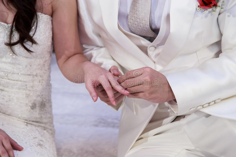 Casamento, aliança de casamento, acoplamento fotografia de stock royalty free