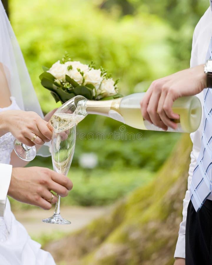 Casamento Champagne fotografia de stock royalty free