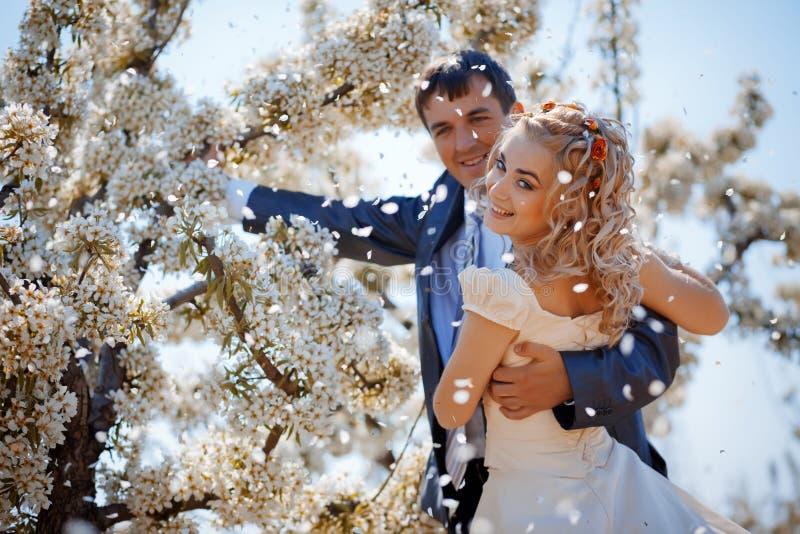 Casamento da mola fotografia de stock royalty free