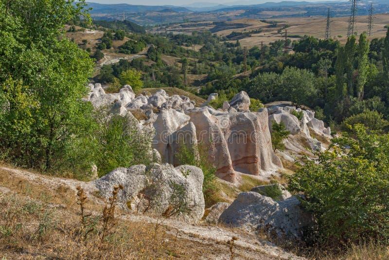Casamento da pedra do fenômeno da rocha, Bulgária fotos de stock royalty free