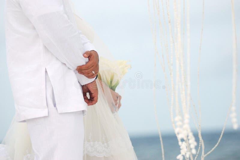 Casamento de praia foto de stock royalty free
