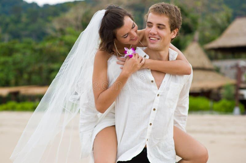 Casamento de praia imagem de stock