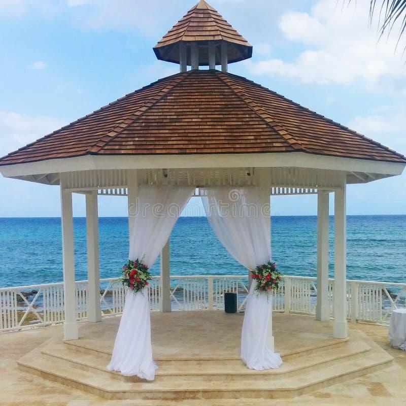 Casamento do Cararibe imagem de stock royalty free