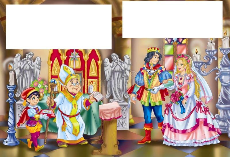 Casamento do conto de fadas ilustração do vetor