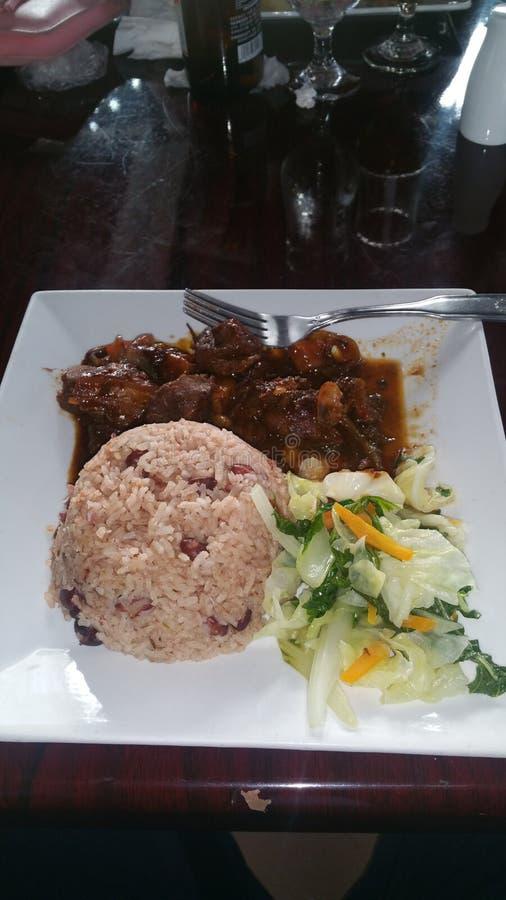 Casamento do jantar da carne de porco do alimento do arroz imagem de stock