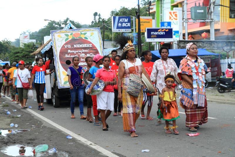 Casamento do Papuan de Numfor imagens de stock