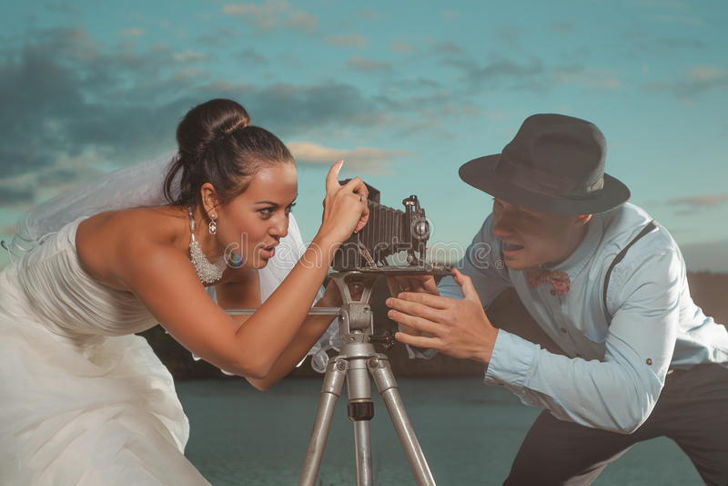 Casamento do vintage foto de stock