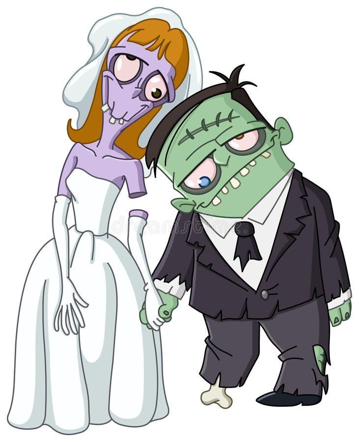 Casamento do zombi ilustração royalty free