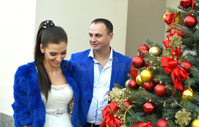 Casamento em dezembro fotografia de stock royalty free