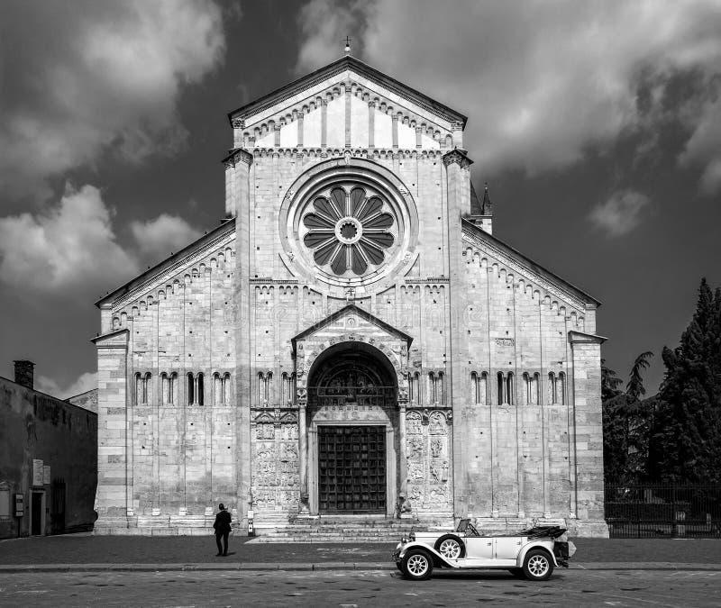 Casamento em San Zeno Maggiore verona Italy imagem de stock