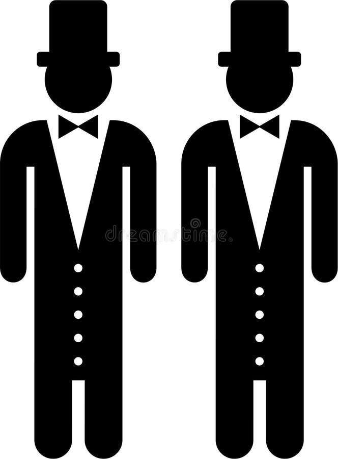 Casamento entre homossexuais ilustração royalty free