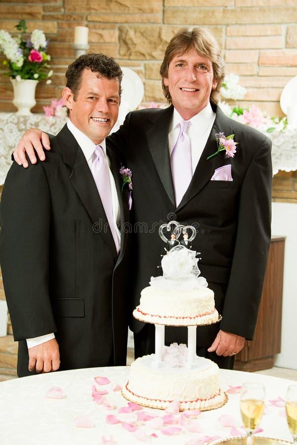 Casamento entre homossexuais - copo de água imagens de stock royalty free