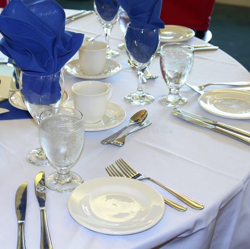 Casamento formal da tabela de banquete imagens de stock