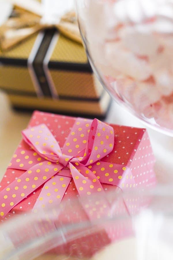 Casamento Giftbox foto de stock royalty free