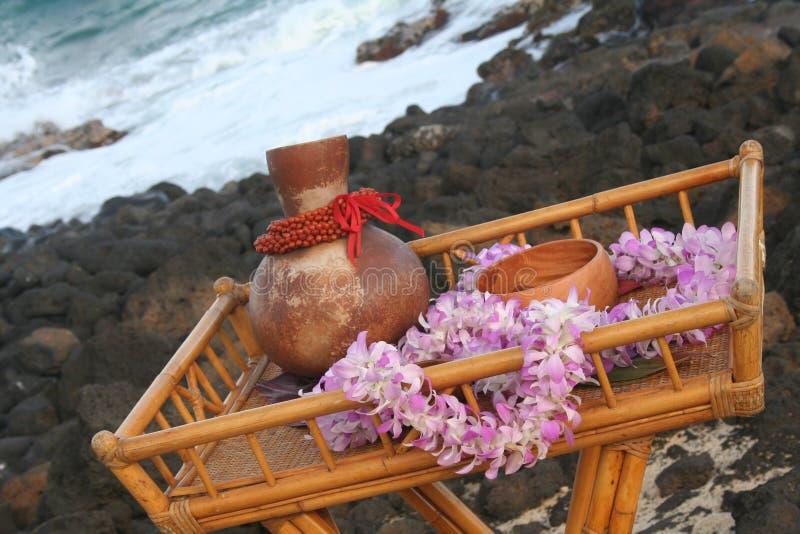 Casamento havaiano fotografia de stock royalty free