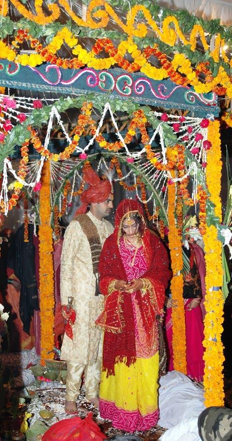 Casamento indiano Hindu tradicional foto de stock
