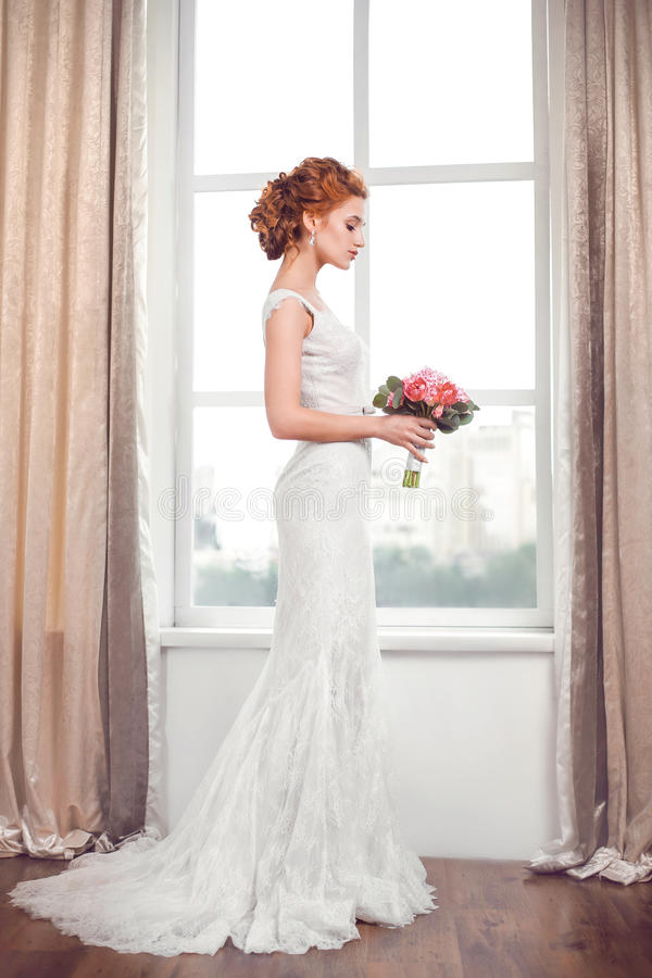 casamento Noiva bonita foto de stock royalty free