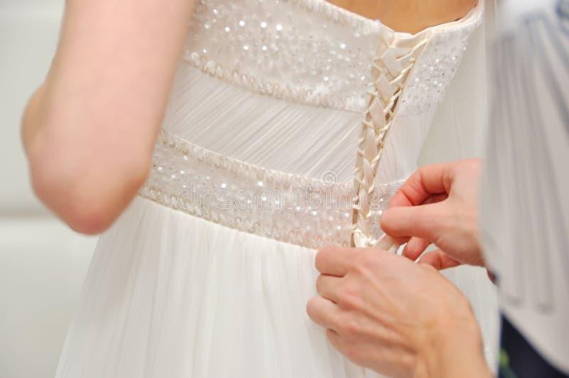 casamento Noiva no vestido bonito imagem de stock