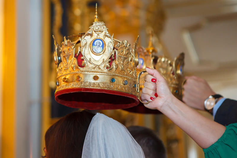 Casamento ortodoxo fotografia de stock