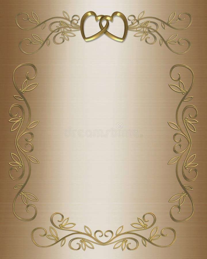 Casamento ou cetim do convite do partido ilustração royalty free