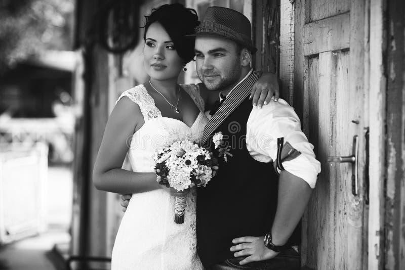 Casamento preto e branco fotografia de stock