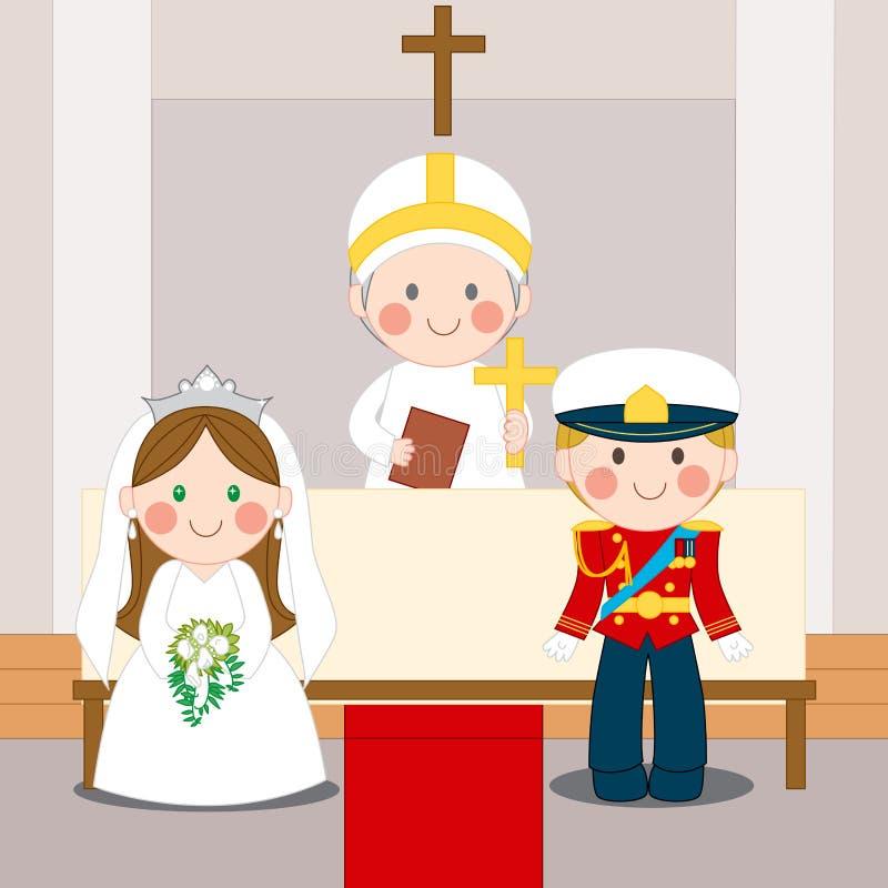 Casamento real ilustração do vetor