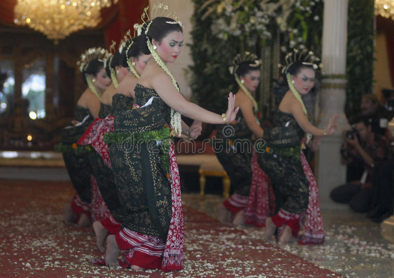 CASAMENTO REAL DO JAVANESE fotografia de stock royalty free