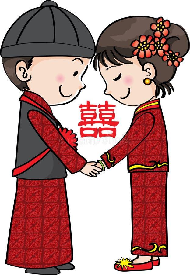 Casamento tradicional chinês fotos de stock