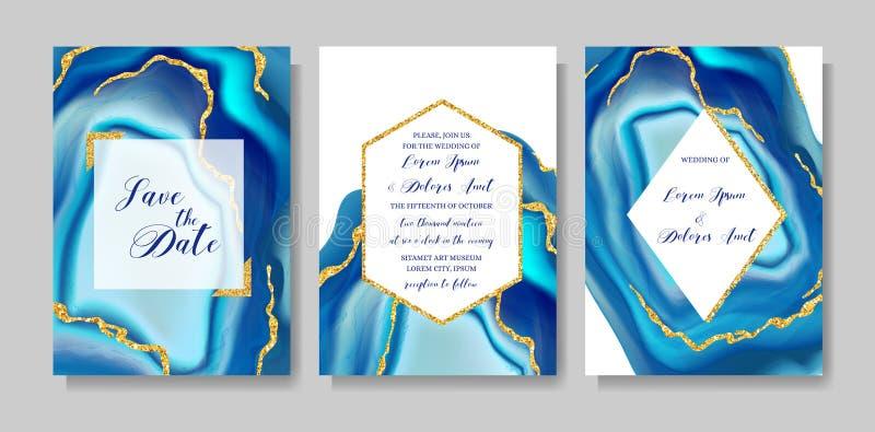 Casandose geoda de la moda o la plantilla del mármol, las cubiertas artísticas diseñan, los fondos realistas de la textura colori libre illustration