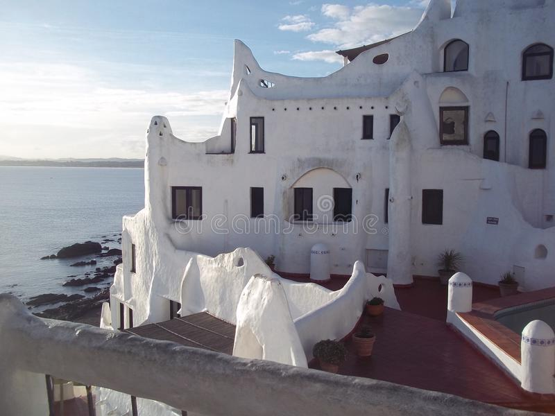 Casapueblo που βρίσκεται σε Punta Ballena, Ουρουγουάη στοκ εικόνες